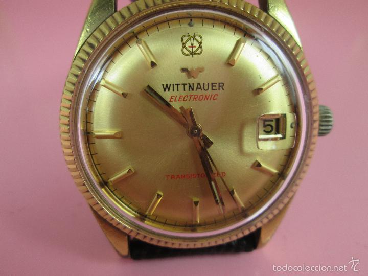 Relojes: 13-precioso reloj-suizo-wittnauer electronic transistorized-buen estado-funcionando-correa piel - Foto 10 - 57882223