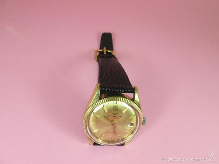 Relojes: 13-precioso reloj-suizo-wittnauer electronic transistorized-buen estado-funcionando-correa piel - Foto 11 - 57882223