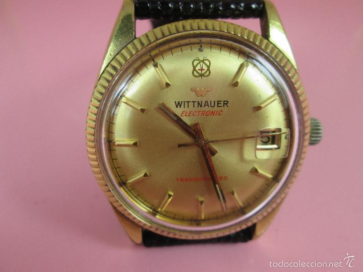 Relojes: 13-precioso reloj-suizo-wittnauer electronic transistorized-buen estado-funcionando-correa piel - Foto 12 - 57882223