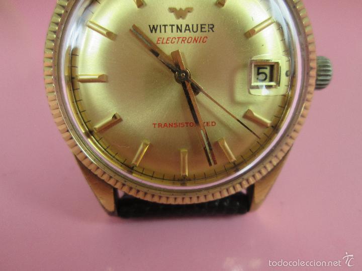 Relojes: 13-precioso reloj-suizo-wittnauer electronic transistorized-buen estado-funcionando-correa piel - Foto 13 - 57882223