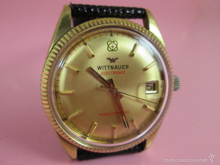 Relojes: 13-precioso reloj-suizo-wittnauer electronic transistorized-buen estado-funcionando-correa piel - Foto 14 - 57882223