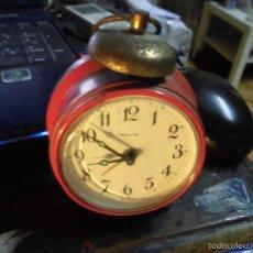 Relojes: RARO ANTIGUO RELOJ DESPERTADOR DE HOJALATA LATA DURA ALEMANIA BLESSING GERMANY FUNCIONA. Lote 58199768