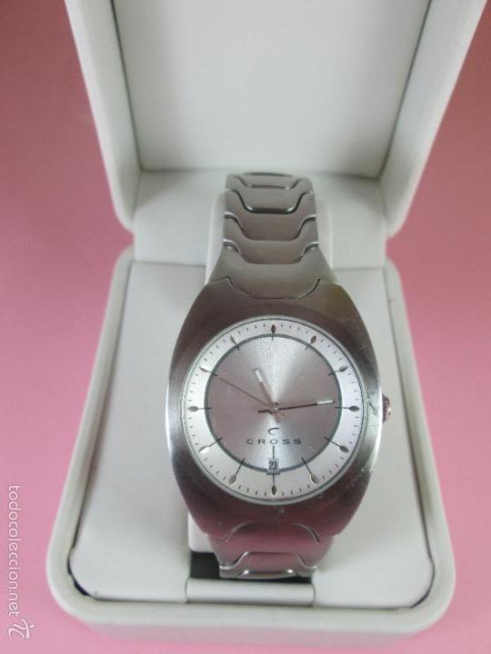 Acero Cross 38x43 Precioso Cuarzo Caja Original Reloj No Diseño Como Nuevo Japan Mm Correa edrWCxBo