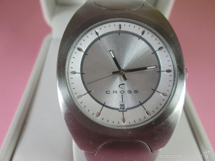 Relojes: RELOJ ACERO-CUARZO-JAPAN-CROSS-38x43 MM-PRECIOSO-CORREA ACERO DISEÑO-CAJA NO ORIGINAL-COMO NUEVO - Foto 3 - 58219567