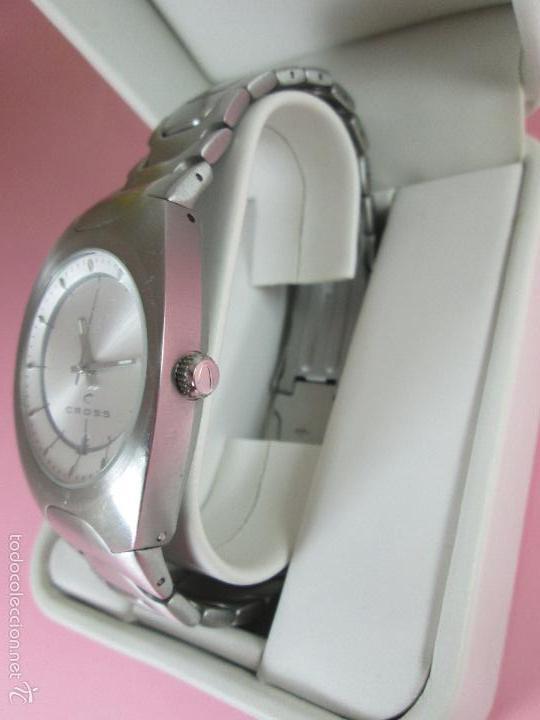 Relojes: RELOJ ACERO-CUARZO-JAPAN-CROSS-38x43 MM-PRECIOSO-CORREA ACERO DISEÑO-CAJA NO ORIGINAL-COMO NUEVO - Foto 5 - 58219567