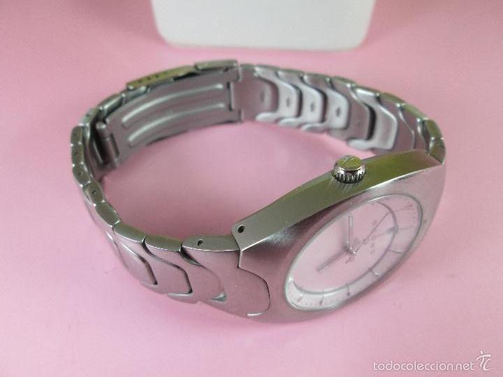 Relojes: RELOJ ACERO-CUARZO-JAPAN-CROSS-38x43 MM-PRECIOSO-CORREA ACERO DISEÑO-CAJA NO ORIGINAL-COMO NUEVO - Foto 6 - 58219567