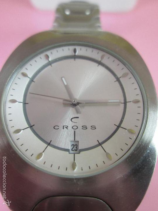 Relojes: RELOJ ACERO-CUARZO-JAPAN-CROSS-38x43 MM-PRECIOSO-CORREA ACERO DISEÑO-CAJA NO ORIGINAL-COMO NUEVO - Foto 8 - 58219567