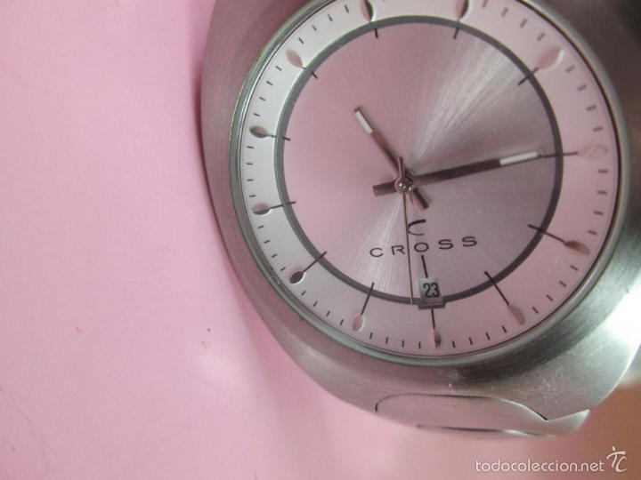 Relojes: RELOJ ACERO-CUARZO-JAPAN-CROSS-38x43 MM-PRECIOSO-CORREA ACERO DISEÑO-CAJA NO ORIGINAL-COMO NUEVO - Foto 10 - 58219567