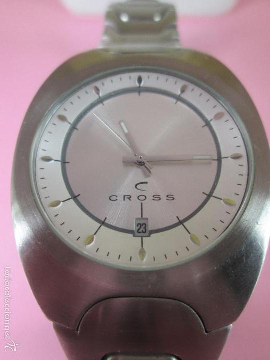 Relojes: RELOJ ACERO-CUARZO-JAPAN-CROSS-38x43 MM-PRECIOSO-CORREA ACERO DISEÑO-CAJA NO ORIGINAL-COMO NUEVO - Foto 11 - 58219567