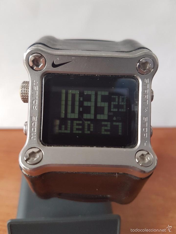 mejor selección 5ac02 41696 Reloj de caballero (Vintage) de cuarzo digital marca Nike con pulsera  original Nike funcionando
