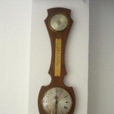 Relojes: RELOJ DE PARED ANTIGUO DE MADERA - MEDIDAS: ALTURA 73 CM X 20 CM DE ANCHURA MD218. Lote 58337664