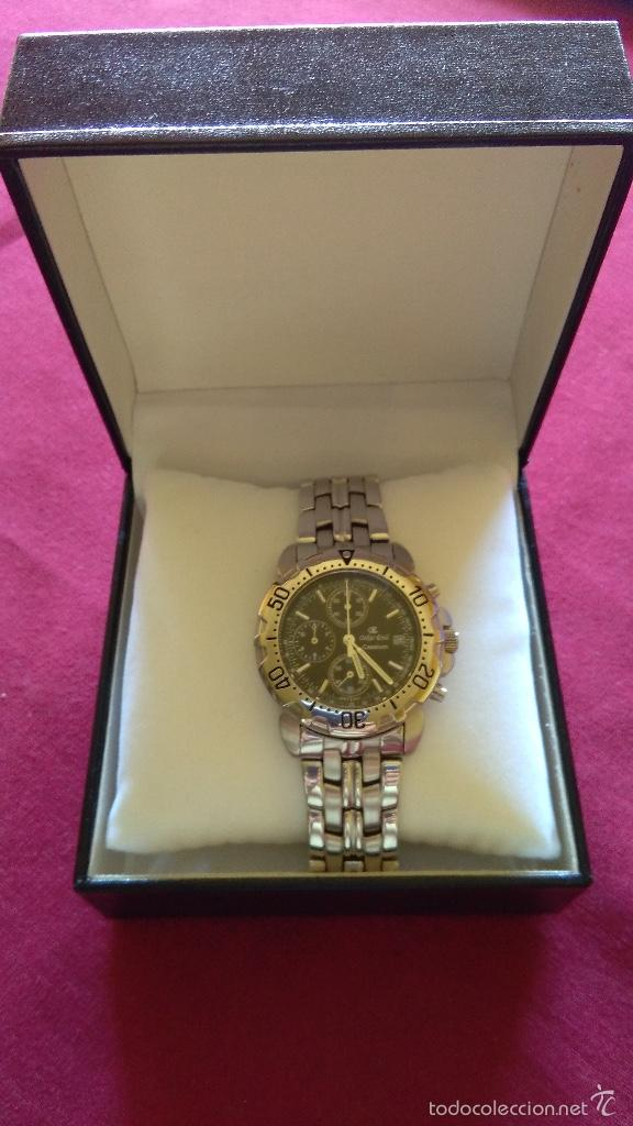 Relojes: Reloj cronógrafo acero Oskar Emil Caesium. 39 mm, cuarzo, fecha. Con caja, 2 correas. Como nuevo. - Foto 7 - 58348121