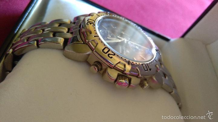 Relojes: Reloj cronógrafo acero Oskar Emil Caesium. 39 mm, cuarzo, fecha. Con caja, 2 correas. Como nuevo. - Foto 11 - 58348121