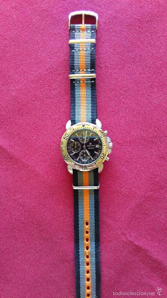 Relojes: Reloj cronógrafo acero Oskar Emil Caesium. 39 mm, cuarzo, fecha. Con caja, 2 correas. Como nuevo. - Foto 15 - 58348121