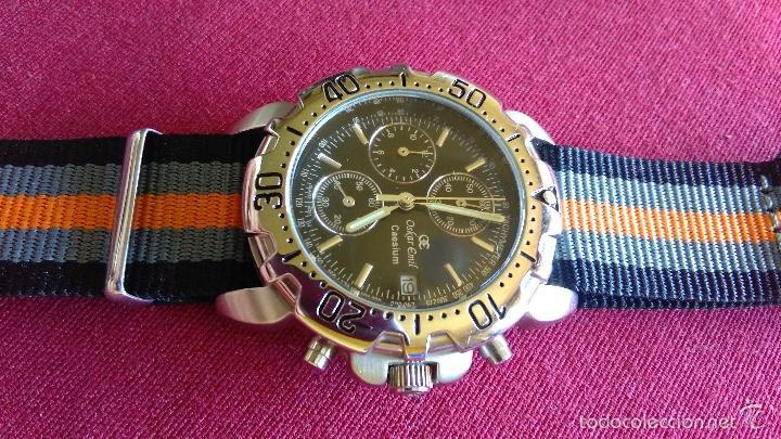 Relojes: Reloj cronógrafo acero Oskar Emil Caesium. 39 mm, cuarzo, fecha. Con caja, 2 correas. Como nuevo. - Foto 16 - 58348121