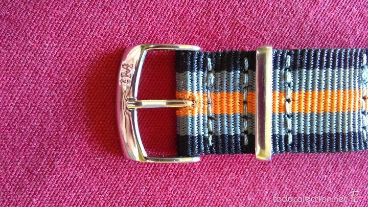 Relojes: Reloj cronógrafo acero Oskar Emil Caesium. 39 mm, cuarzo, fecha. Con caja, 2 correas. Como nuevo. - Foto 18 - 58348121