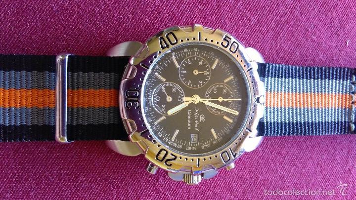 Relojes: Reloj cronógrafo acero Oskar Emil Caesium. 39 mm, cuarzo, fecha. Con caja, 2 correas. Como nuevo. - Foto 19 - 58348121