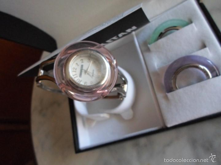 Relojes: RELOJ PULSERA DE MUJER - COSMOPOLITAN - CON TRES AROS DE ESFERA INTERCAMBIABLES - Foto 2 - 58449085