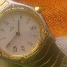 Relojes: RELOJ EBEL SEÑORA .SUISSE MADE. ACERO Y ORO.CON ESTUCHE ORIGINAL ALGO DETERIORADO.. Lote 58655047