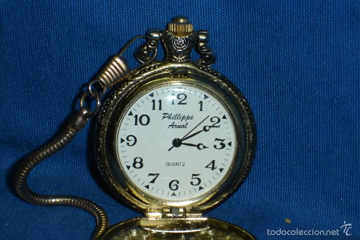 -RELOJ DE BOLSILLO PHILLIPPE ARNOL CON LEONTINA - QUARTZ (Relojes - Relojes Actuales - Otros)
