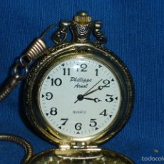 Relojes: -RELOJ DE BOLSILLO PHILLIPPE ARNOL CON LEONTINA - QUARTZ. Lote 194267457