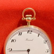 Relojes: RELOJ DE BOLSILLO SUIZO MARCA BASSEL 6 RUBIS SWISS MADE VINTAGE CHAPADO ORO 18K AÑOS 90. Lote 59563063