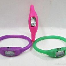 Relojes: LOTE 3 RELOJES G&B DIGITALES. DE SILICONA. Lote 59600083