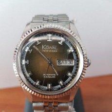 Relojes: RELOJ DE CABALLERO (VINTAGE) KOWAL AUTOMÁTICO INCABLOC, CON MAQUINA SUIZA ETA 2789, CORREA DE ACERO . Lote 59696027