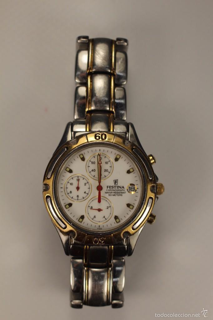 Raro reloj festina hombre 7133 chronograph - Vendido en Venta ... c25e54759fcd