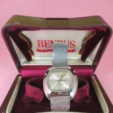 Relojes: ANTIGUO RELOJ SUIZO-BENRUS SEA LORD-AUTOMÁTICO-37X38/26X25 MM-EXCELENTE ESTADO-CAJA-VER FOTOS.. Lote 61108887