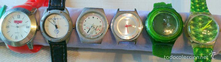LOTE Nº 8 ---) CONJUNTO 6 RELOJES VARIADOS PULSERA PUBLICITARIOS A REVISAR O PARA PIEZAS (Relojes - Relojes Actuales - Otros)
