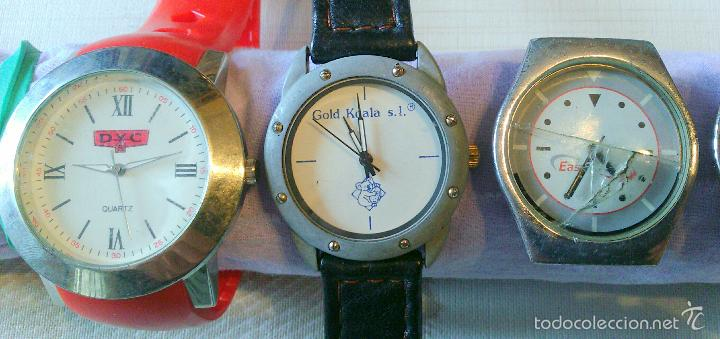 Relojes: LOTE nº 8 ---) CONJUNTO 6 RELOJES VARIADOS PULSERA PUBLICITARIOS A REVISAR O PARA PIEZAS - Foto 2 - 61199999