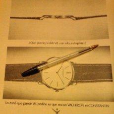 Relojes: RELOJES VACHERON ET CONSTANTIN, PUBLICIDAD.. Lote 61219891