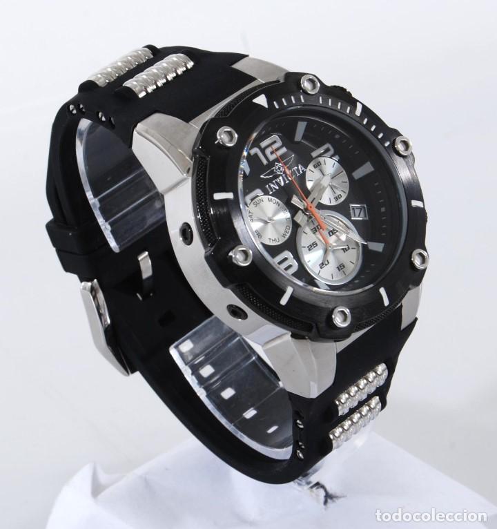 Relojes: Invicta Speedway hombre 51mm Correa de Silicona Negro, Cronógrafo Acero Inoxidable - Foto 2 - 62872796