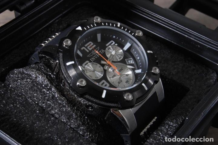 Relojes: Invicta Speedway hombre 51mm Correa de Silicona Negro, Cronógrafo Acero Inoxidable - Foto 8 - 62872796