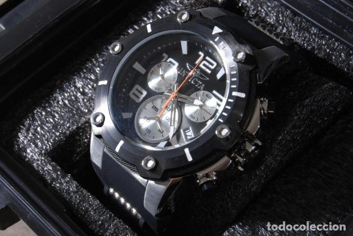 Relojes: Invicta Speedway hombre 51mm Correa de Silicona Negro, Cronógrafo Acero Inoxidable - Foto 9 - 62872796