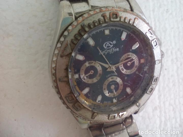 Relojes: Reloj de pulsera. LeGriffon Funcionando. Stainless Steel - Foto 2 - 69079010