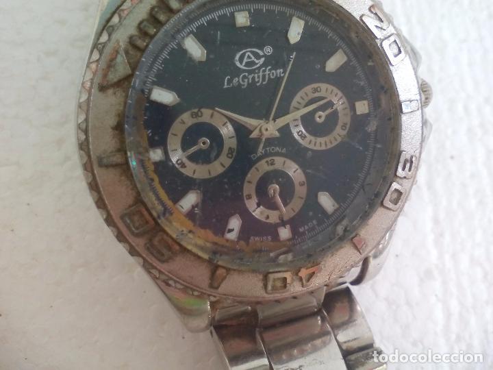 Relojes: Reloj de pulsera. LeGriffon Funcionando. Stainless Steel - Foto 3 - 69079010