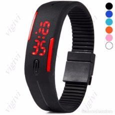 Relojes: PACK 5 RELOJES LED DIGITAL IMPERMEABLE VARIOS COLORES-NUEVOS-NEW. Lote 63312420