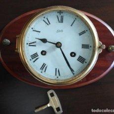 Relojes: RELOJ DE BARCO, ALEMÁN SCHATZ, CON SONERÍA CAMBIOS DE GUARDIA. PERTENECIÓ AL BUQUE SUECO JOH. GORTON. Lote 66892874