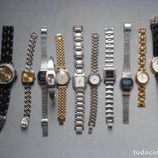 Relojes: LOTE DE 11 RELOJES DE DAMA DE CUARZO Y DIGITALES.. Lote 67023690