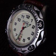 Relojes: RELOJ PROPAGANDA COCA COLA DE MOVIMIENTO DE PILA FUNCIONANDO. Lote 67583717
