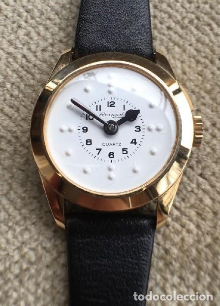 BONITO RELOJ DE SEÑORA PARA CIEGOS CON ESFERA BLANCA BRAILLE AÑOS 80 PERFECTO ESTADO (Relojes - Relojes Actuales - Otros)