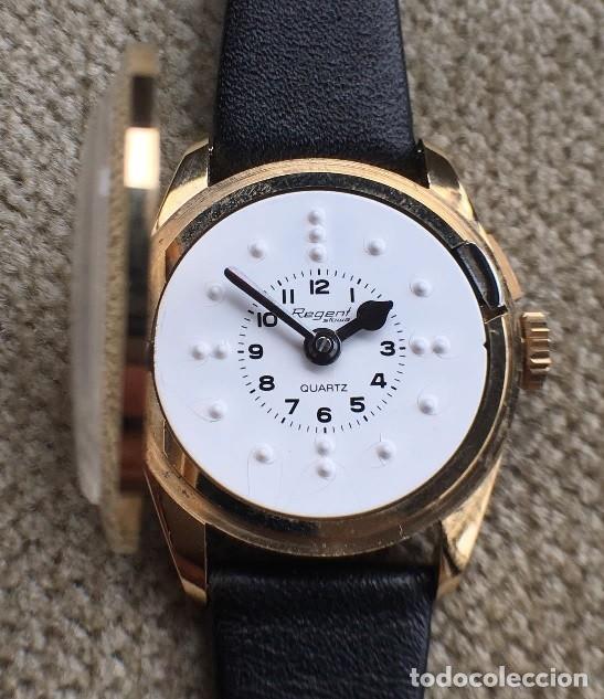 Relojes: BONITO RELOJ DE SEÑORA PARA CIEGOS CON ESFERA BLANCA BRAILLE AÑOS 80 PERFECTO ESTADO - Foto 2 - 228043235