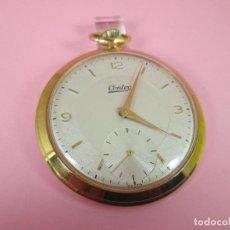 Relojes: ANTIGUO RELOJ-SUIZO-CONTEX-CHAPADO EN ORO-45 MM.D-SIN CORONA-EXCELENTE CONDICIÓN-MÍNIMAS SEÑALES DE . Lote 68600465