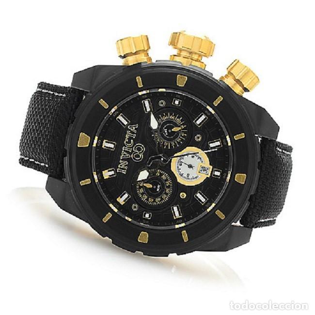 Relojes: Invicta Corduba Cronógrafo Dial Negro Correa de Nylon Negro - Foto 2 - 142063922