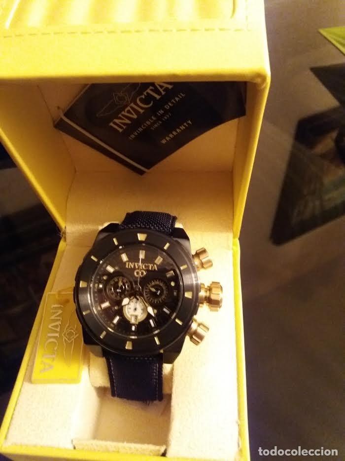 Relojes: Invicta Corduba Cronógrafo Dial Negro Correa de Nylon Negro - Foto 5 - 142063922