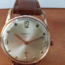 Relojes: RELOJ DE CABALLERO (VINTAGE) KARDEX DE CUERDA. SUIZO CALIBRE AS 1130, CHAPADO DE ORO 10 MICRAS . Lote 73499407