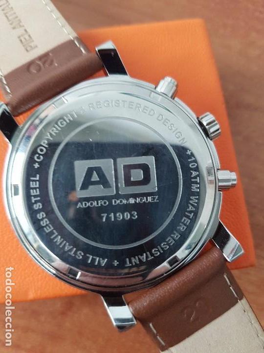 59d94c9244dc Relojes  Reloj caballero cuarzo marca Adolfo Dominguez (A D) Cronometro