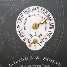 Relojes: CARPETA-DOSSIER DEL RELOJ LANGEMATIK PERPETUO, DE A. LANGE & SÖHNE - 2001. Lote 75258015